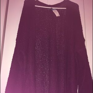 A purple cardigan from Rue 21